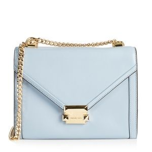 Michael Kors Whitney #57653 Bleu Leather Shoulder